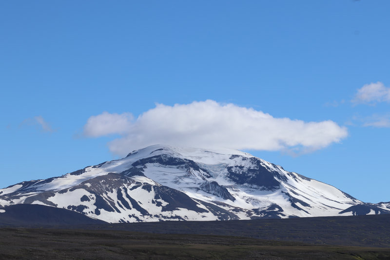 The mountain Snæfell which is Icelands tallest freestanding mountain.